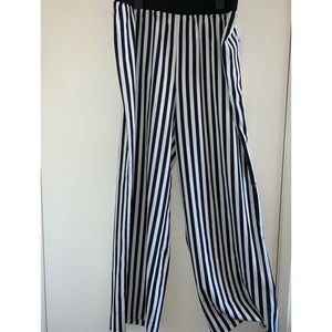 Black and white stripped parachute pants!
